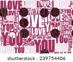 speech bubble become ' i love... | Shutterstock .eps vector #239754406