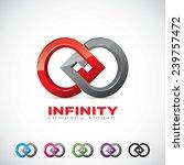 an attractive infinity vector...   Shutterstock .eps vector #239757472