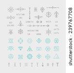 set of vector trendy geometric...   Shutterstock .eps vector #239767708