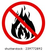 """red """"no fire"""" sign. vector... 