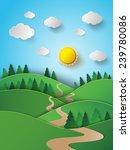 vector illustration sunrise... | Shutterstock .eps vector #239780086