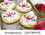 Melting Snowman Sugar Cookies...