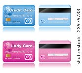 vector realistic credit cards | Shutterstock .eps vector #23979733