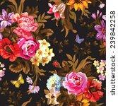 beautiful vintage seamless... | Shutterstock .eps vector #239842258