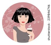 illustration of an asian woman... | Shutterstock .eps vector #239846746