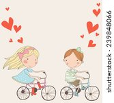 couple in love on  bicycles....