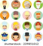 set of vector cute character... | Shutterstock .eps vector #239851012