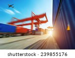 industrial port with containers | Shutterstock . vector #239855176
