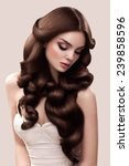 hair. portrait of beautiful... | Shutterstock . vector #239858596