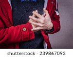 a young man suffering from... | Shutterstock . vector #239867092