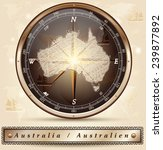 map of australia with borders... | Shutterstock .eps vector #239877892