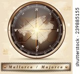 map of mallorca with borders in ... | Shutterstock .eps vector #239885155