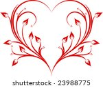 Abstract Flowered Heart.