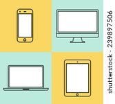 laptop  tablet computer ... | Shutterstock . vector #239897506