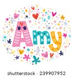 amy female name decorative...