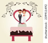 wedding design over white... | Shutterstock .eps vector #239911492