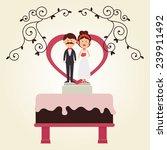 wedding design over white... | Shutterstock .eps vector #239911492