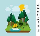 landscape design  vector... | Shutterstock .eps vector #239914156