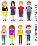 a group of faceless teenagers... | Shutterstock .eps vector #239927755