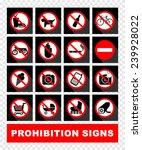 prohibition set symbol | Shutterstock .eps vector #239928022