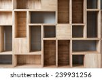empty wooden boxes on the... | Shutterstock . vector #239931256