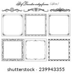 set of vintage decorative... | Shutterstock .eps vector #239943355