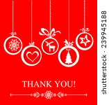 thank you card. vector... | Shutterstock .eps vector #239945188
