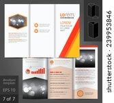 white vector brochure template... | Shutterstock .eps vector #239953846