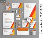 white stationery template... | Shutterstock .eps vector #239953852