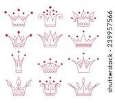 set of doodle crowns | Shutterstock .eps vector #239957566