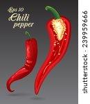 vector hot chili peppers.... | Shutterstock .eps vector #239959666