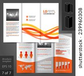 white vector blue brochure... | Shutterstock .eps vector #239960308