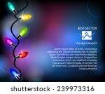 colourful christmas lights.... | Shutterstock .eps vector #239973316