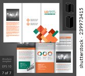 vector white brochure template... | Shutterstock .eps vector #239973415