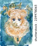 sheep  goat  the symbol of 2015 | Shutterstock . vector #239978065