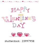 the valentine's day. vector | Shutterstock .eps vector #23997958