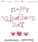 the valentine's day. vector | Shutterstock .eps vector #23997958