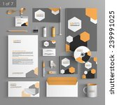 gray stationery template design ... | Shutterstock .eps vector #239991025