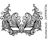 gorgeous lace masquerade mask... | Shutterstock .eps vector #239998756