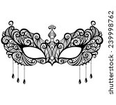 beautiful lace masquerade mask... | Shutterstock .eps vector #239998762