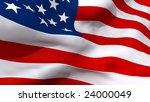 american flag | Shutterstock . vector #24000049