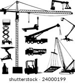 construction crane   vector | Shutterstock .eps vector #24000199
