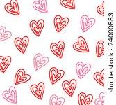 heart seamless pattern   Shutterstock .eps vector #24000883