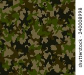 seamless camouflage pattern   Shutterstock .eps vector #240008998