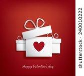 valentine's day concept... | Shutterstock . vector #240010222
