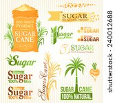 sugar elements set. labels and... | Shutterstock .eps vector #240012688