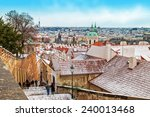 Panoramic View Of Prague Old...