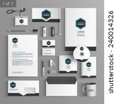 classic stationery template... | Shutterstock .eps vector #240014326