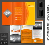 orange vector brochure template ... | Shutterstock .eps vector #240015058