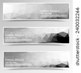 abstract set of black and white ... | Shutterstock .eps vector #240032266